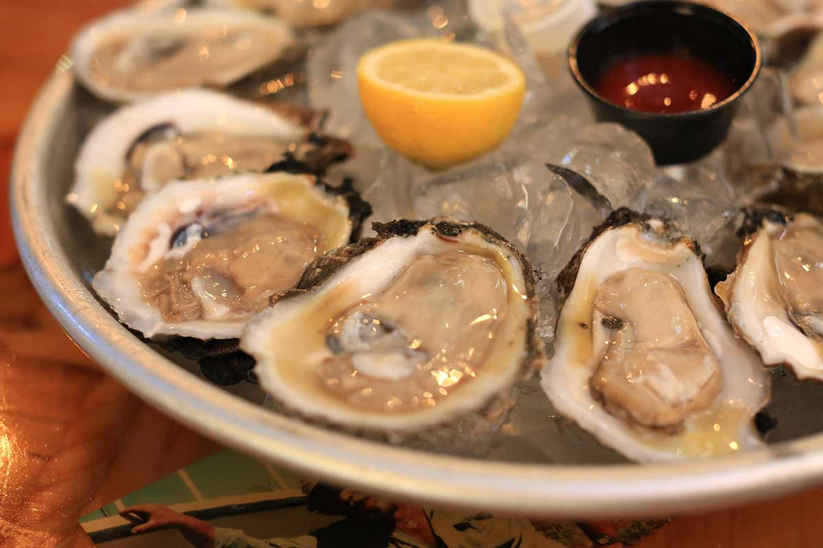 Raw Oysters from Bluewater Seafood