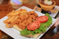 Shrimp Po Boy Sandwich from Bluewater Seafood