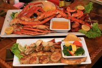 Mariners Platter and Captains Catch from Bluewater Seafood