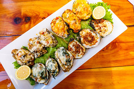 Bluewater Seafood Grilled Oysters